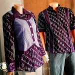 "Batik Sarimbit Unik ""One Heart Purple"""