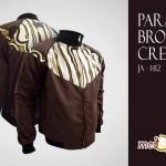 Jual Jaket Batik Pria Parang Brown Cream (Pre-Order)