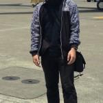 Mas Arindarto dengan jaket batik Mega Mendung
