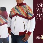 jaket batik aska white maroon