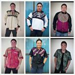 Mas Syarifudin dengan koleksi batik Medogh